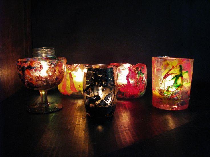 Jak wykonać proste lampiony z lakierowych zacieków - Pomysły plastyczne ...