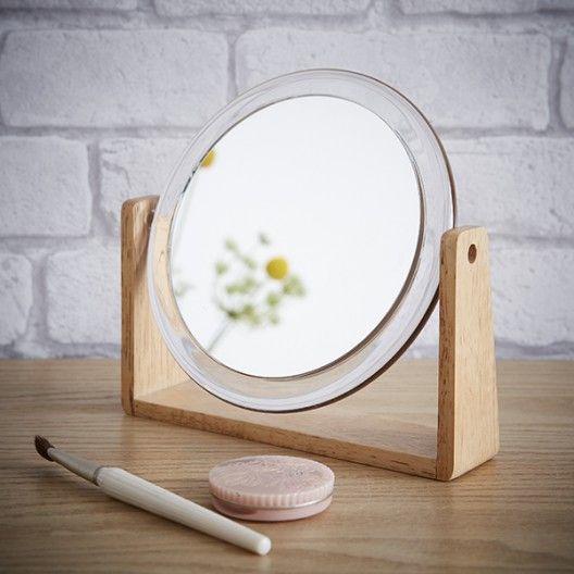 Miroir à poser grossissant Bois et Acrylique