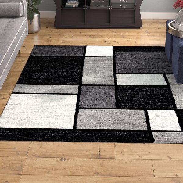 Lorenzo Gray Black White Area Rug With Images Area Rugs White