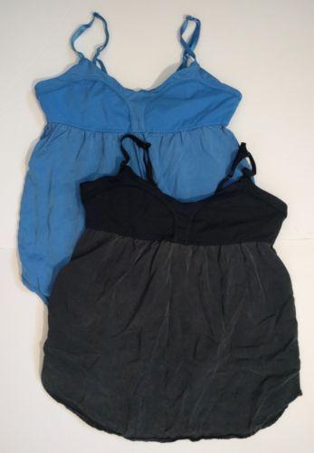 Lot of 2 Lululemon Find Bliss Tank Size 10 Blue Black Light Weight Stretch Top