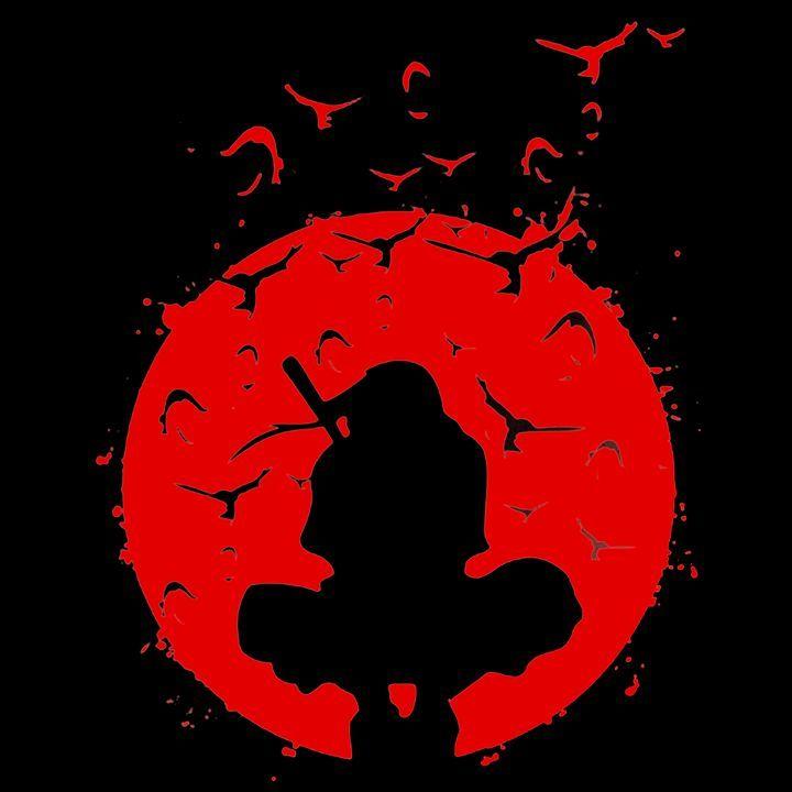 Itachi Uchiha Red Benice Digital Art People Figures Animation Anime Comics Anime Itachi Uchiha Art Red Aesthetic Grunge Wallpaper Naruto Shippuden Blood moon itachi moon wallpaper
