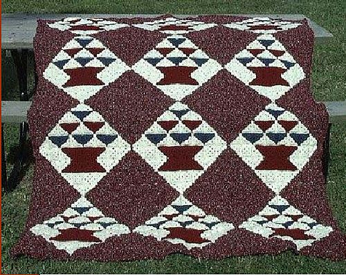 27 besten crochet Afghan looks like a quilt Bilder auf Pinterest ...