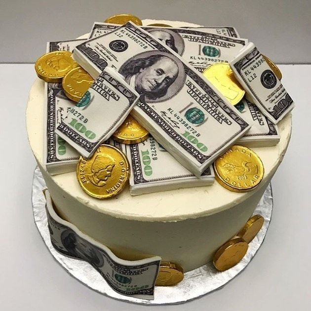 You Can T Beat A Good Edible Money Cake Love The Gold And The