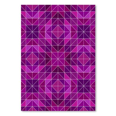 "East Urban Home Purple Symbol Style  Graphic Art Size: 24"" H x 18"" W"