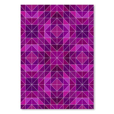 "East Urban Home Purple Symbol Style  Graphic Art Size: 16"" H x 12"" W"