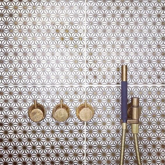 When talking tile, geometric patterns are all the rage.