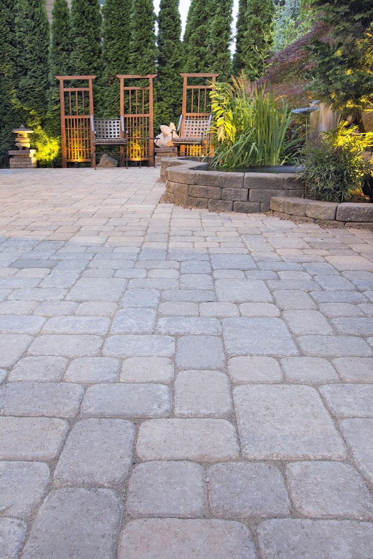 Brick Paver Patio With Fire Pit Cost: 1000+ Ideas About Paver Designs On Pinterest