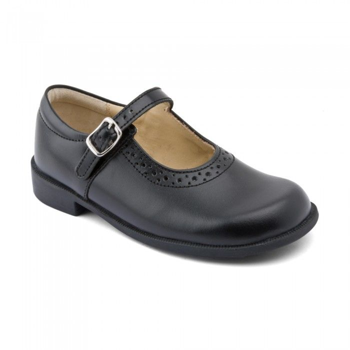 start rite, louisa, black, f width (wide)<br />buckle fastening for adjustability and a comfortable fit<br />elongated heel stiffener to help counteract...