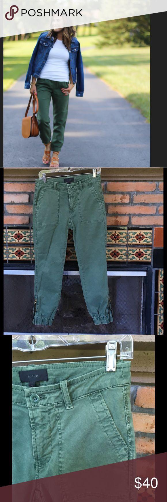 NWOT J CREW FATIGUE GREEN JOGGER CHINOS 2 FAB FATIGUE GREEN JOGGER CHINOS BY J CREW NWOT J. Crew Pants Track Pants & Joggers