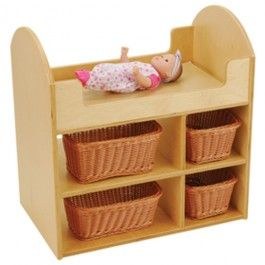 Baby Doll Wooden Changing Table $59.00. Doll+Changing +Table+ +Lay+baby+on+the+soft