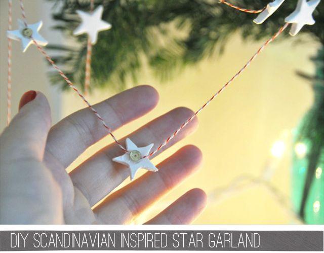 star garland: Craft, Stars, Star Garland, Inspired Star, Garlands, Christmas Ideas