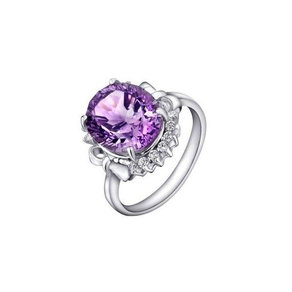 Perfect Cheap Carat Solitaire Amethyst Engagement Ring for Women on sale