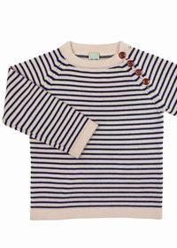 Sweater ecru/navy - FUB