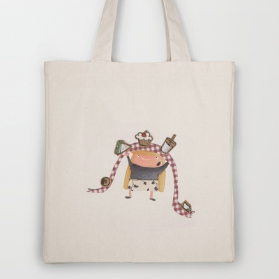 buffet Tote Bag by stefania coniglio - $18.00