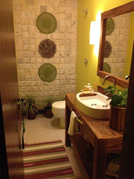 Lavabo  rustico chic  Pinterest -> Banheiro Simples Rustico