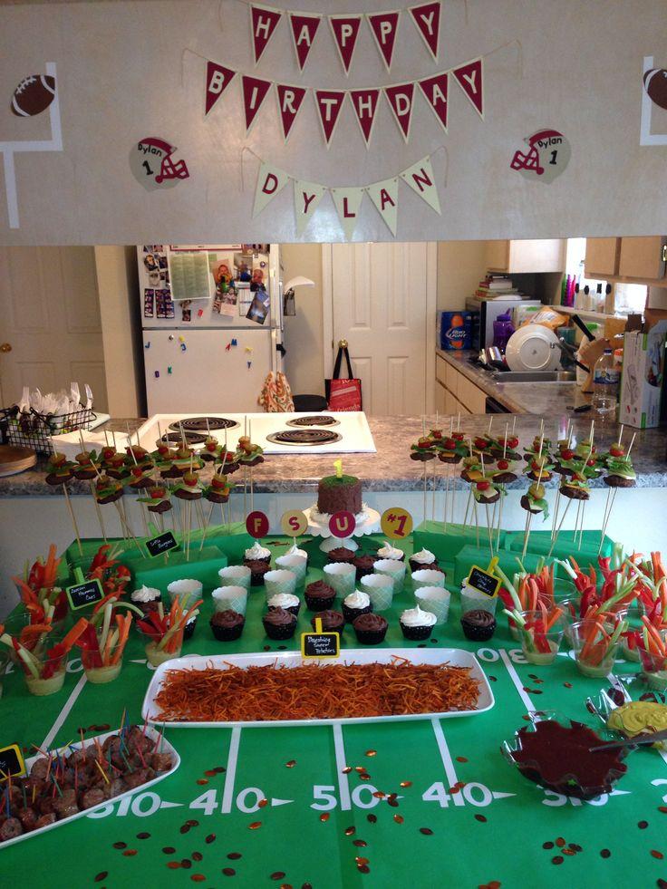 Football theme 1st birthday Sons birthday ideas Pinterest
