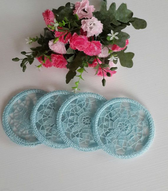 lace coaster decorative lace coaster handmade by NORTHsKNITTING