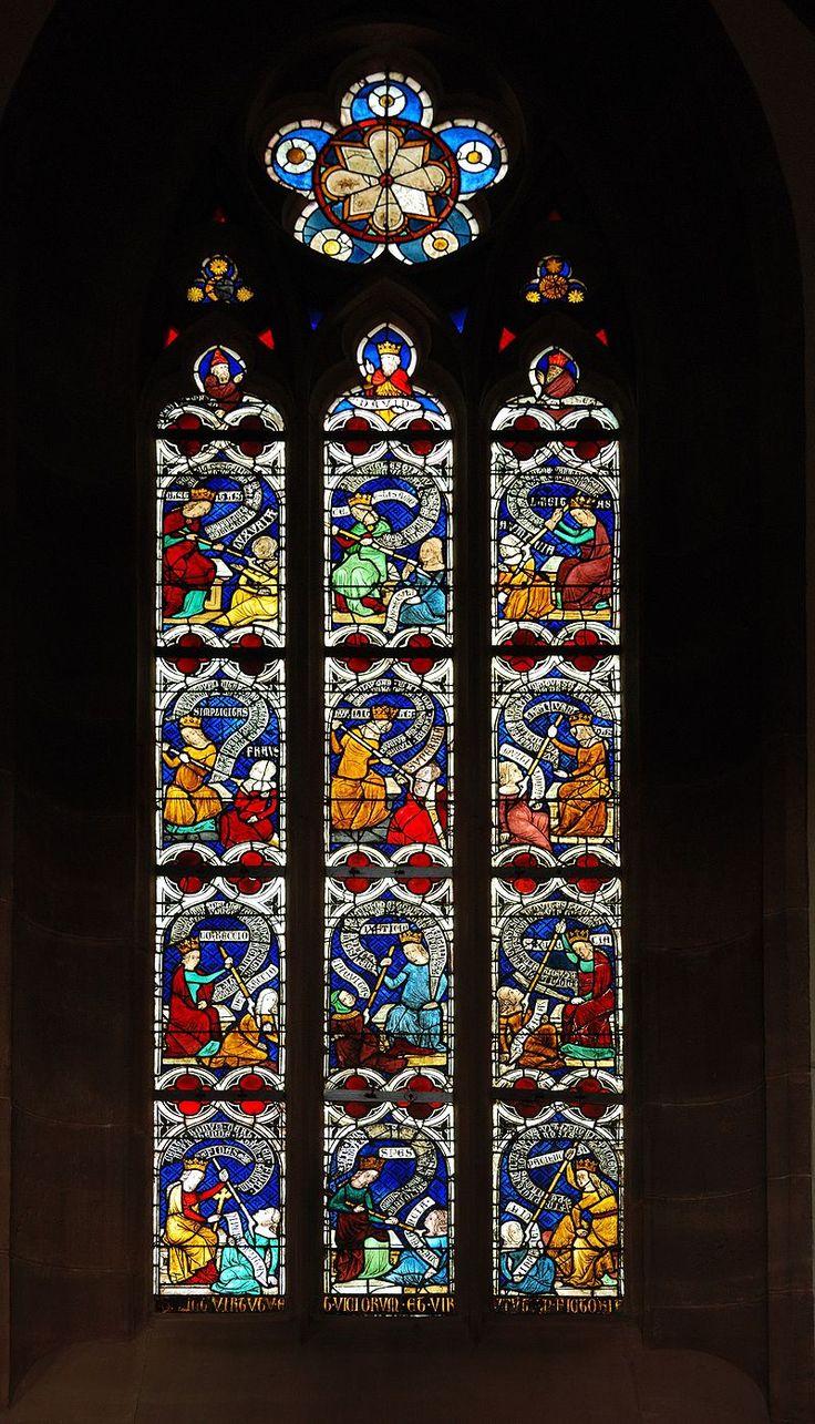 Stiftskirche Niederhaslach Glasfenster (Kampf der Tugenden mit dem Laster) - Virtue - Wikipedia, the free encyclopedia