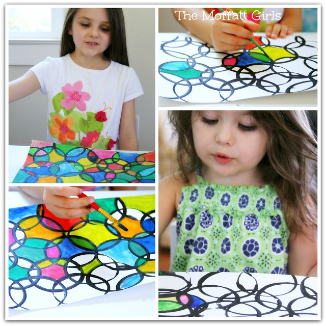 Circle Painting ~ So easy and they turn out gorgeous! (Free idea and directions.)