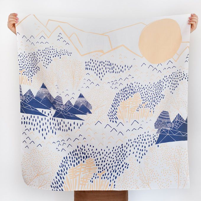 Furoshiki Wrapping Cloth - LINK x Leah Duncan {Mountain Blossom} (will be shipped early November) $48.00