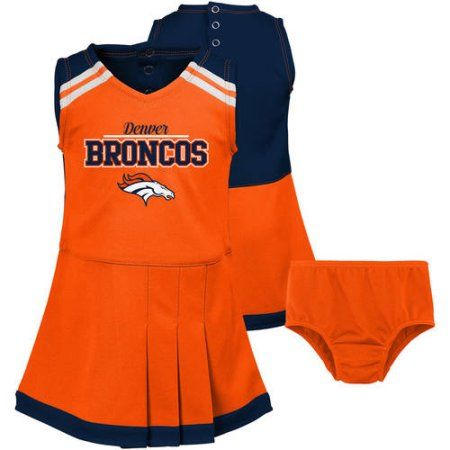 NFL, Team: Broncos ,Toddler Cheerleader Outfit, Team Colors, Toddler Girl's, Size: 4 Years