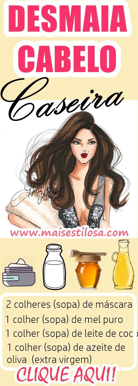 MELHOR DESMAIA CABELO: Hidratação Caseira PODEROSA que vai SALVAR o seu cabelo.
