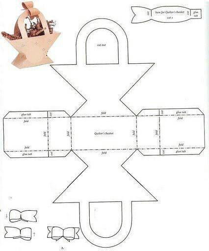 Caja en forma de cesta