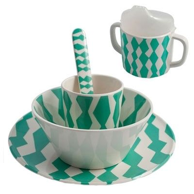 Image of Set vaisselle en mélamine enfant : 5 pièces