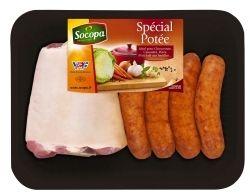 Assortiment Potée - Jarret et saucisses fumées.  #sausage, #pork.