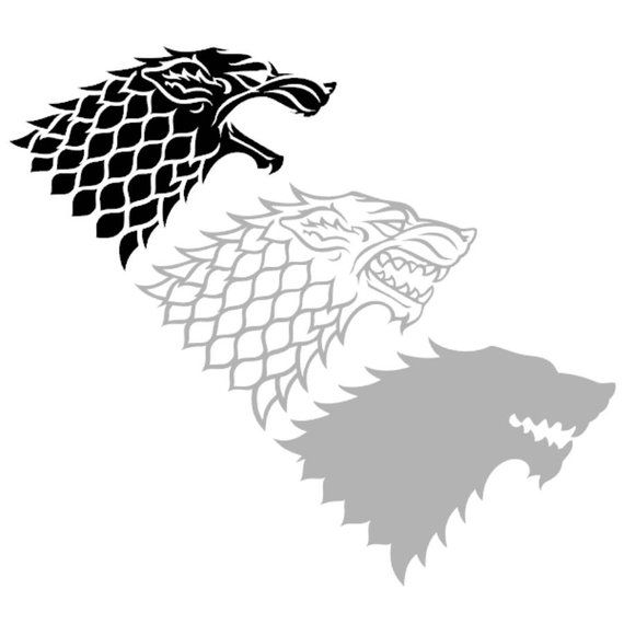 Game of thrones wolf. Svg clipart cut files