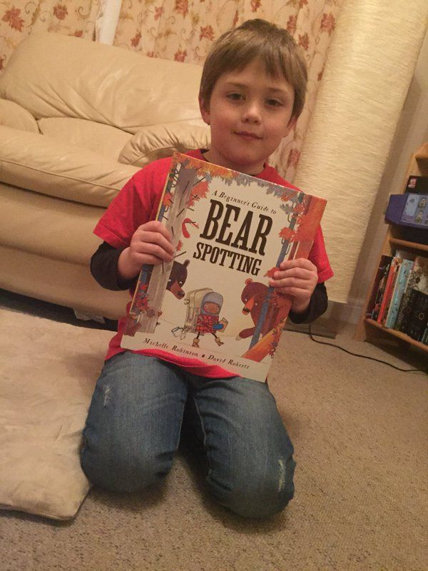 Lisa Beverley's son with Bear Spotting - thanks!