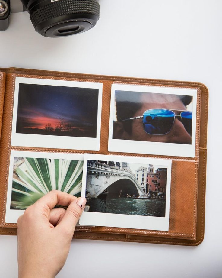 Keep All Your Pictures Safe In Instax Wide Album For 80 Photos Available Brown