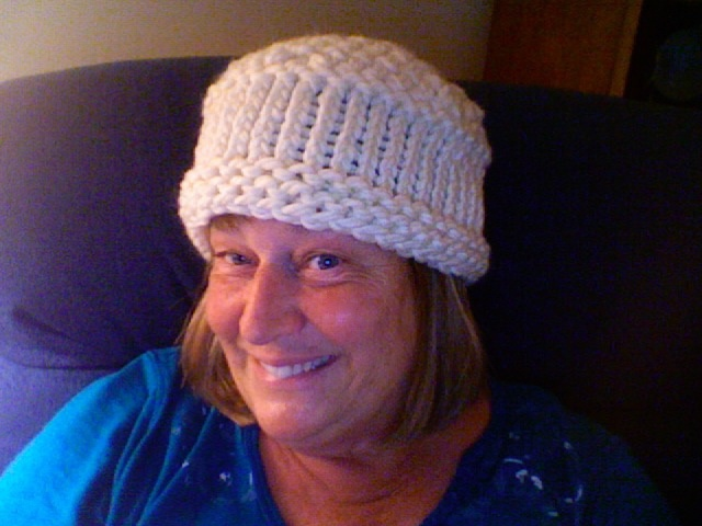 I knit this for the LWML Auction, along with a scarf.  Wonder who bought it?