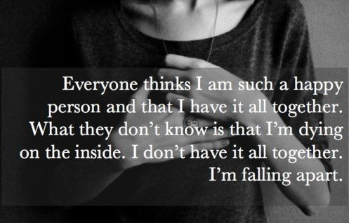 death quotes | quote text happy depressed sad true falling apart dying inside ...