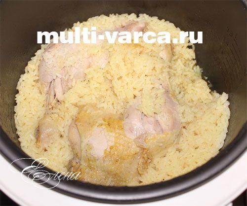 как приготовить рис с курицей в мультиварке