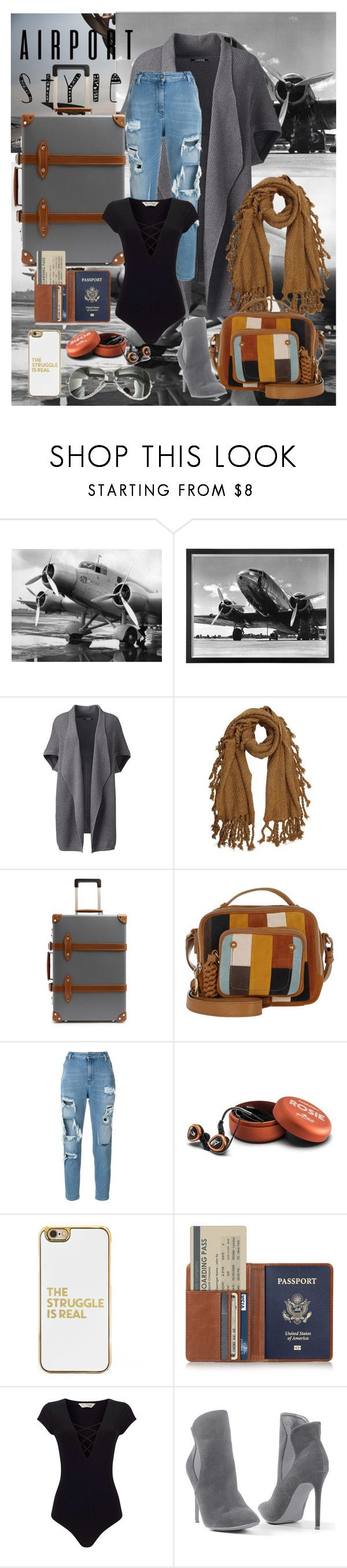 """On board!!"" by nova5ta5ia ❤ liked on Polyvore featuring Eichholtz, Lands' End, Globe-Trotter, See by Chloé, Diesel, Astell & Kern, BaubleBar, Miss Selfridge, Venus and airportstyle"