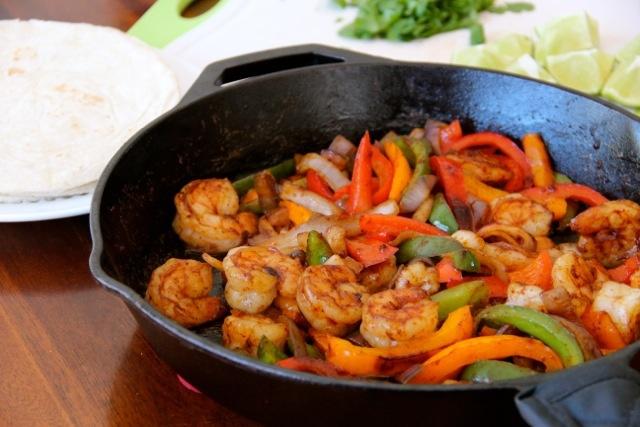 :Shrimp Fajitas with Homemade Fajita Seasoning: