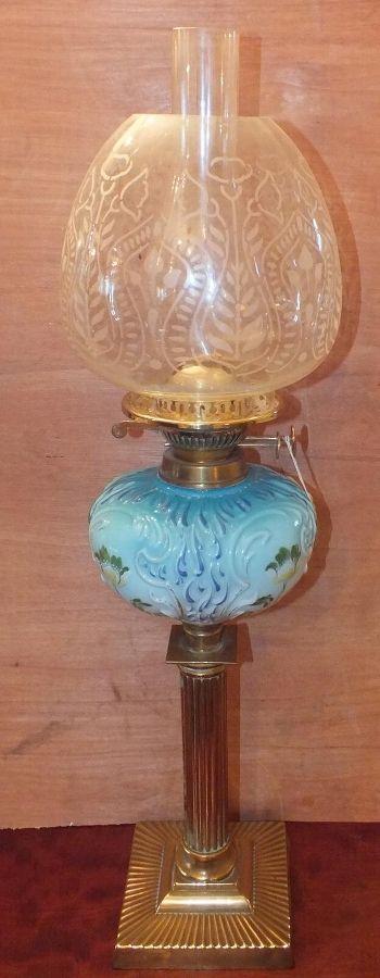 Victorian oil lamp,19th  century