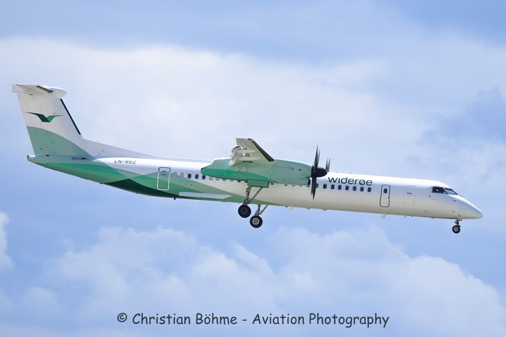 Please check out: http://chrisphotography1.wix.com/home The flying mint Airline: wideroe Aircraft: De Havilland Canada DHC-8-402Q Dash 8 Registration: LN-RDZ Age of the plane: 12 years Owner before: Malev -> SAS Airport: Vacla Havla Prague Airport (PRG/LKPR) Spotting Place: Approach of runway 30 Date: 31.07.2013