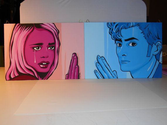 Doctor WHO dual canvas set by grimNglam on Etsy