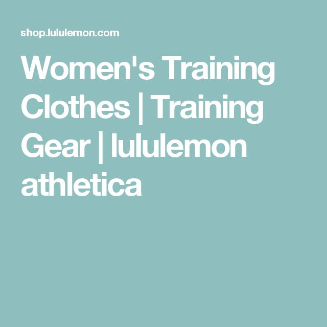 Women's Training Clothes   Training Gear   lululemon athletica