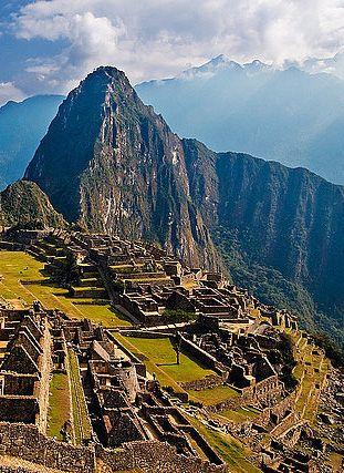 Machu Picchu, Peru – Natural Beauty in South America...FYI the ruins in machu picchu were made...not natural. ;)