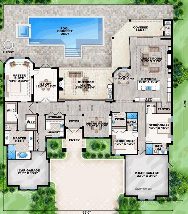 Image Result For Mediterranean House Plans