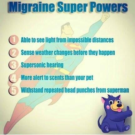 Migraine Super Powers http://MigraEase.com #migraine #headache #natural