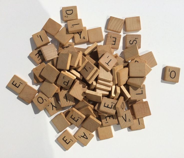 vintage wooden scrabble tiles lot of 102  for crafts #Scrabble