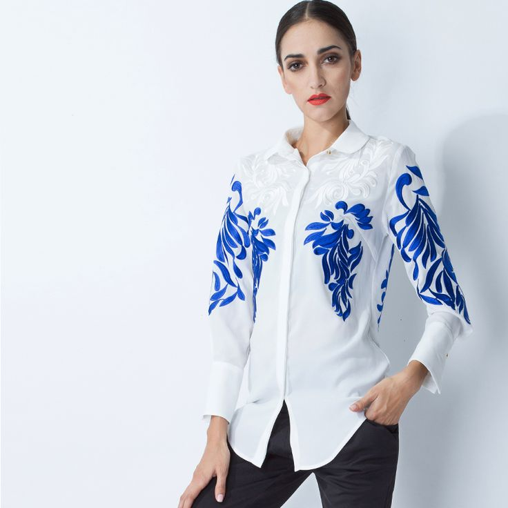 96 best embroidery images on Pinterest | Women's blouses, Women's ...
