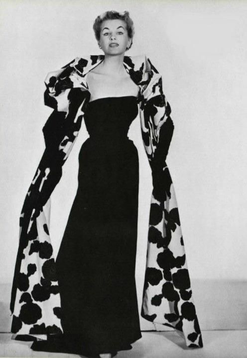 Dior evening gown and wrap, 1953