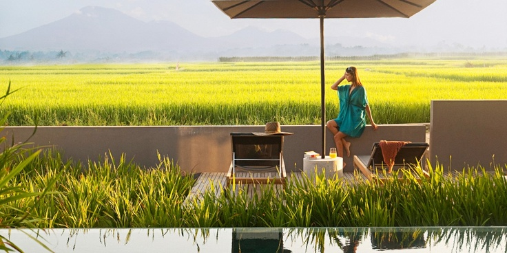 Terrace Pool Villas look out over the surrounding rice paddies and hills. #Jetsetter