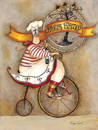 Paris Bistro I Lámina giclée por Jennifer Garant en AllPosters.com.mx