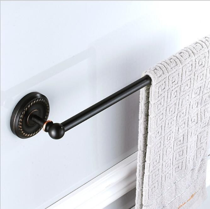 high quality black oil nickle towel hanger wall mounted 24 inch single towel bartowel